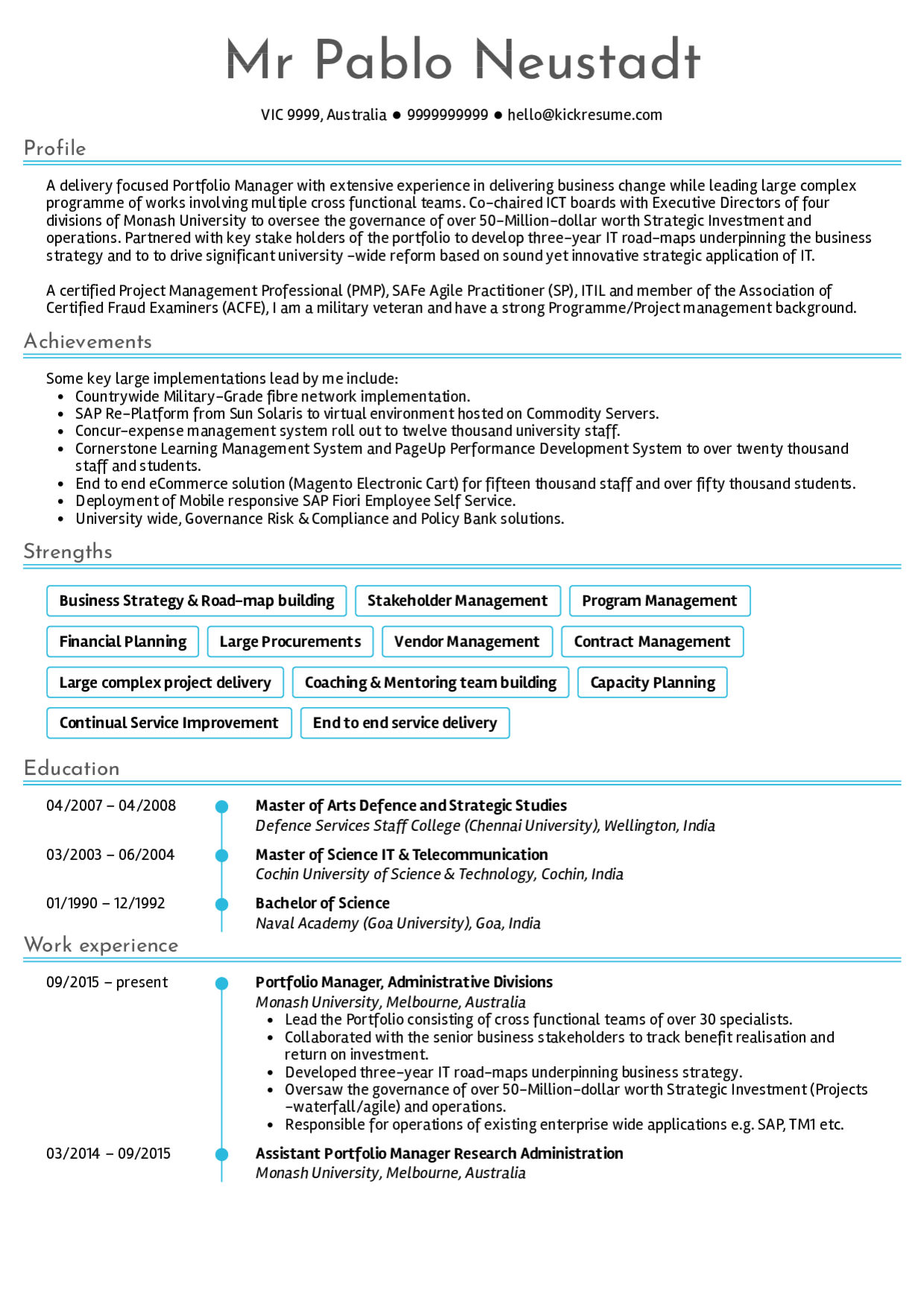 Senior Project Manager Resume Samples, Senior Project