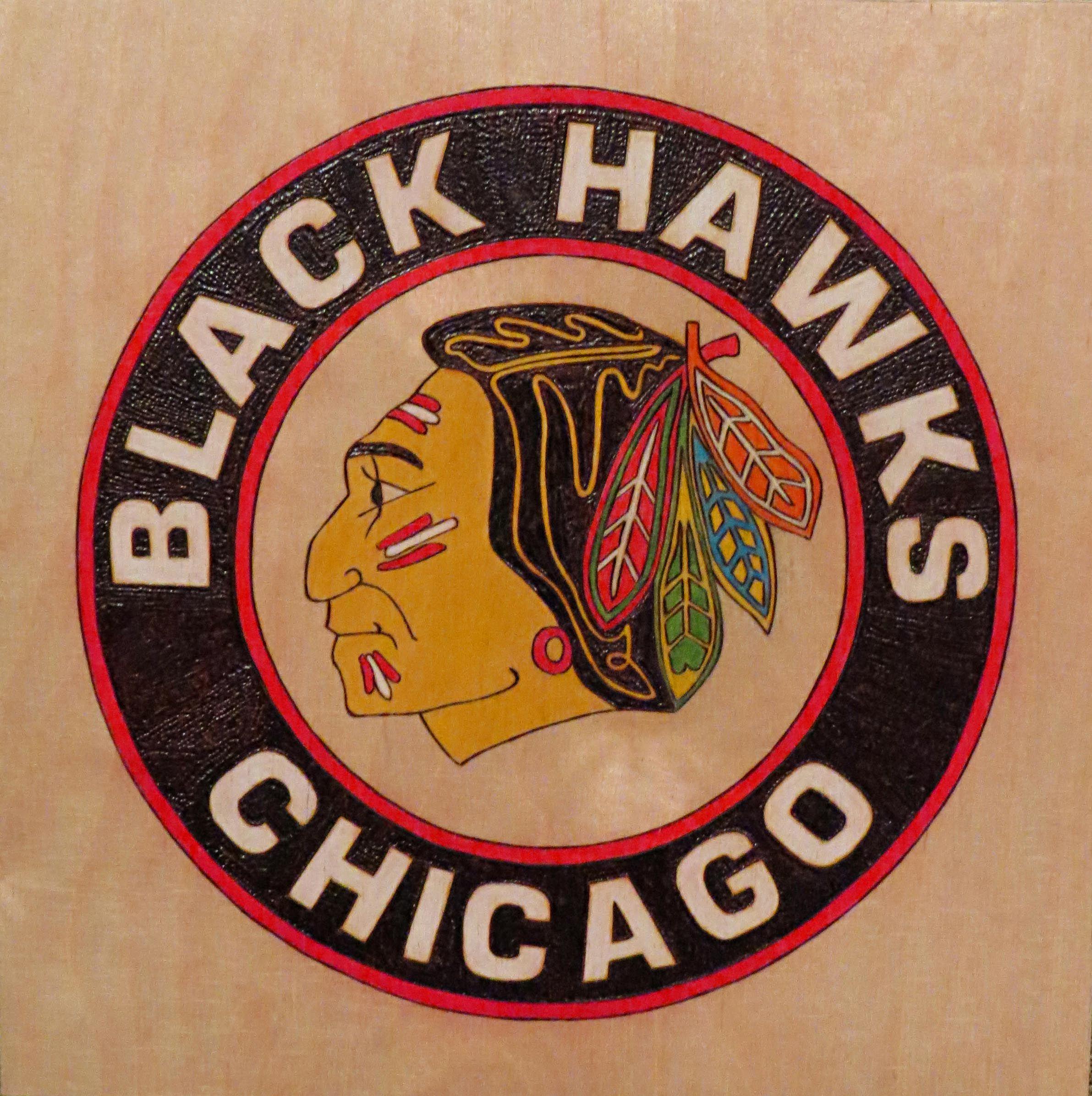 Chicago Black Hawks Logo   Pyrography   Pinterest