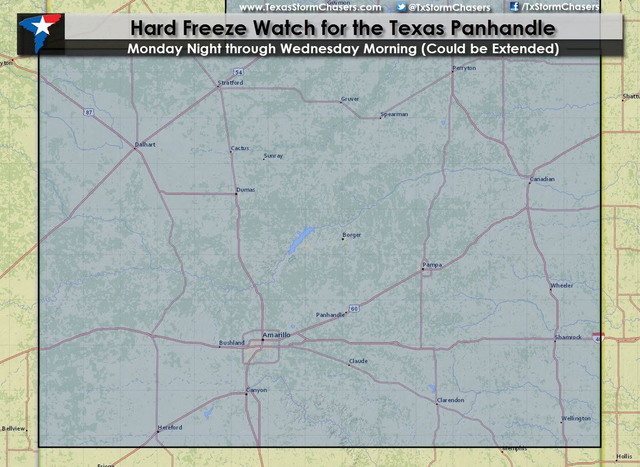 Hard Freeze Watch for the Texas Panhandle The National
