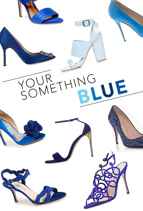 bc6169fe04 Your something blue (and new) should absolutely be your wedding shoes |  Brides.com
