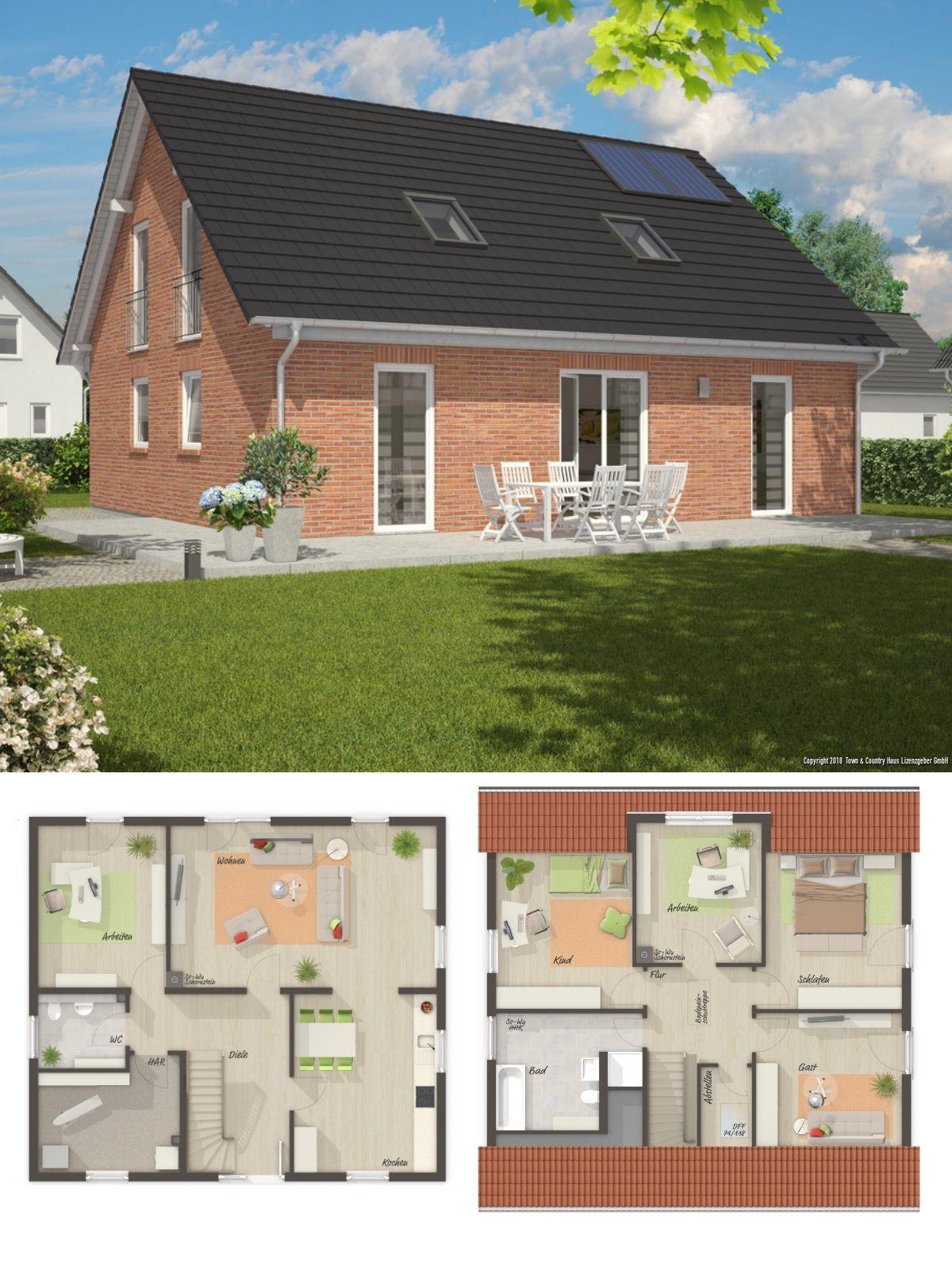Einfamilienhaus architektur grundriss klassisch mit for Architektur klassisch