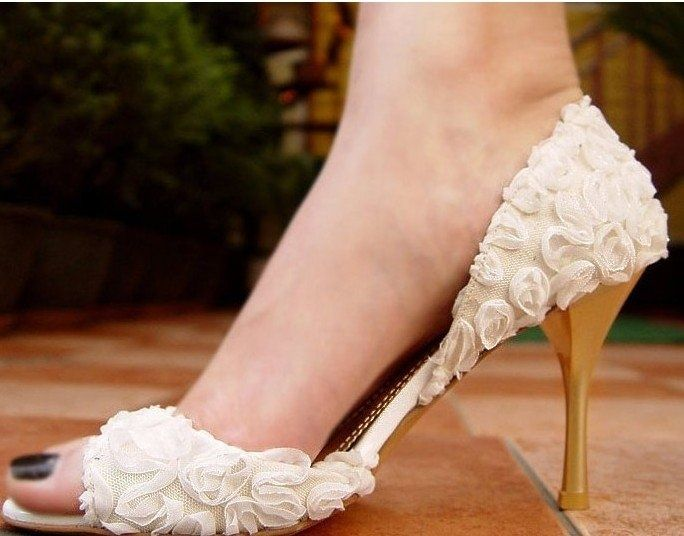 Gorgeous Womens Shoes Wedding Special Occasion Silk Lace Stitching Pink Black Round Toe For Sale