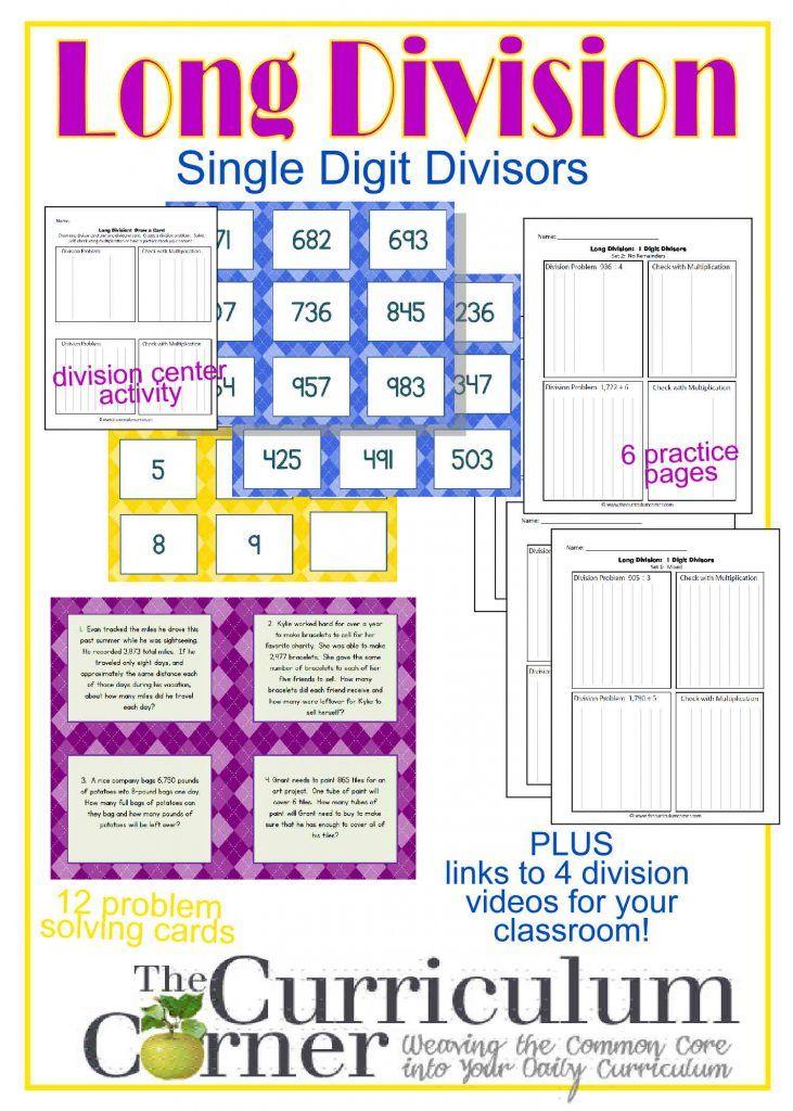 Long Division Resources (1-Digit Divisor