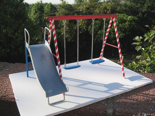 Swing set metals parks and swings for Mini swing set