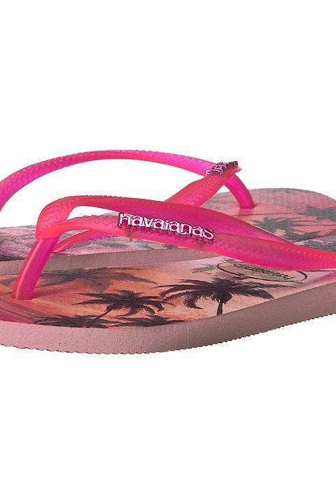 Footwear · Havaianas Slim Paisage Flip Flops (Pearl Pink) Women's Sandals  ...