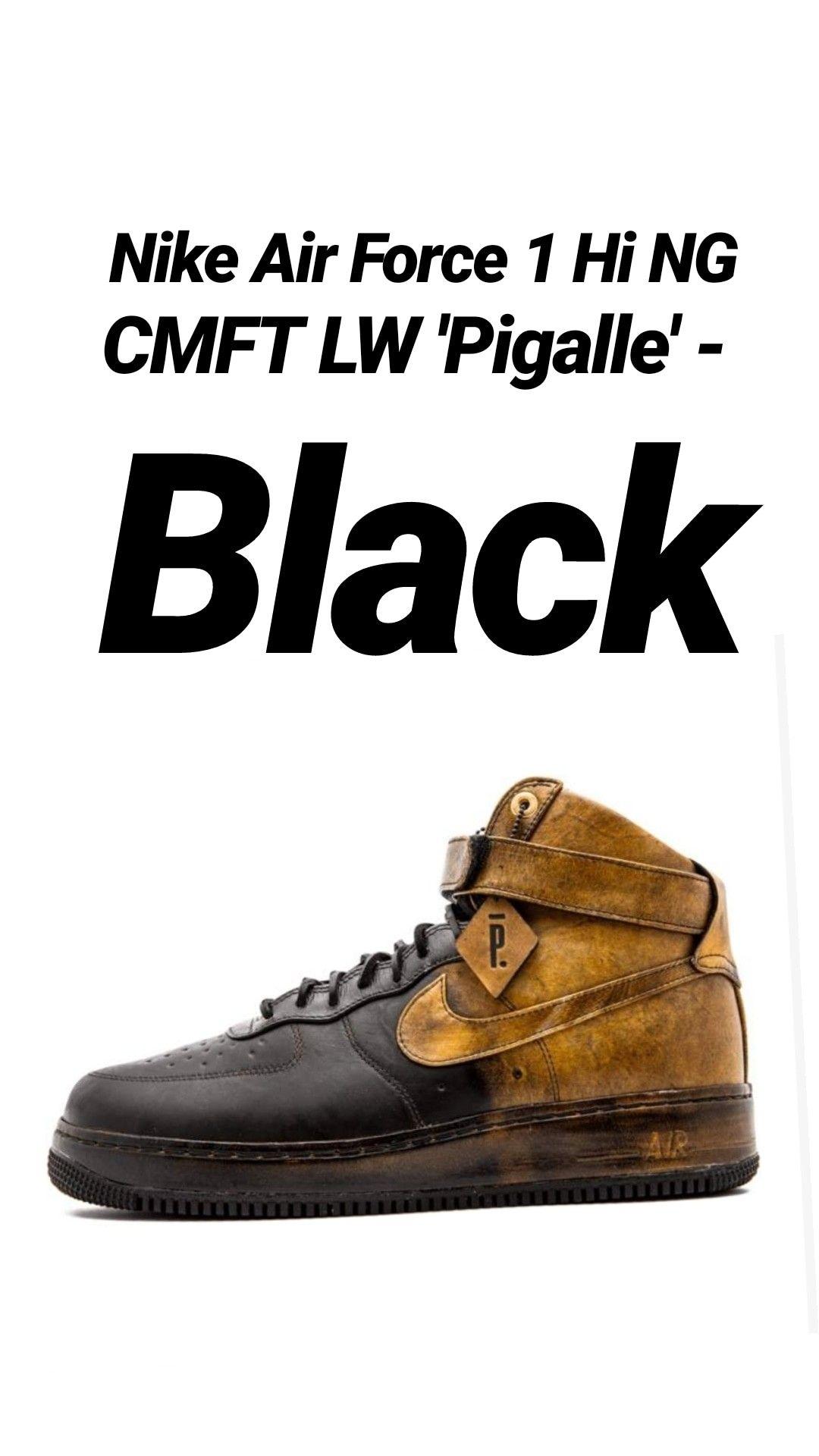 online retailer 1c5b4 c6258 Nike Air Force 1 Hi NG CMFT LW Pigalle - Black.