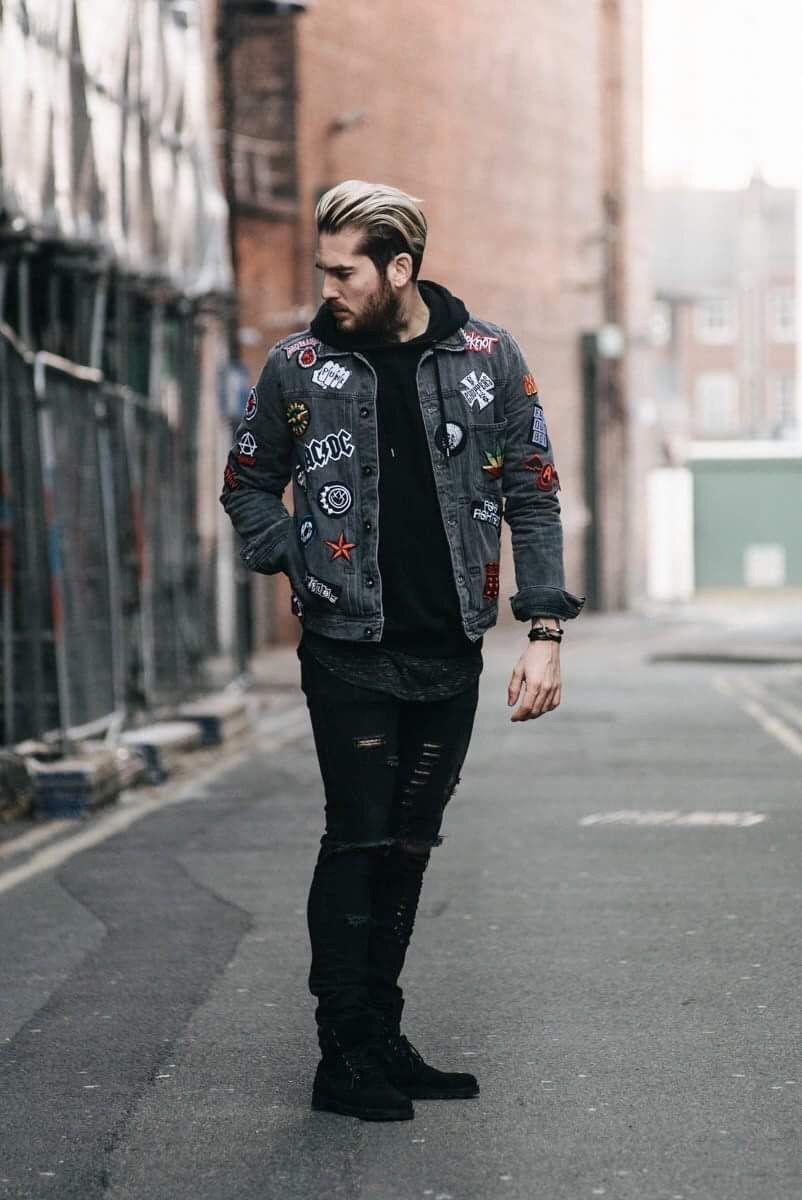 Pin By U S On Fashion Jackets Grey Denim Jacket Denim Jacket Men Patterned Jeans [ 1200 x 802 Pixel ]