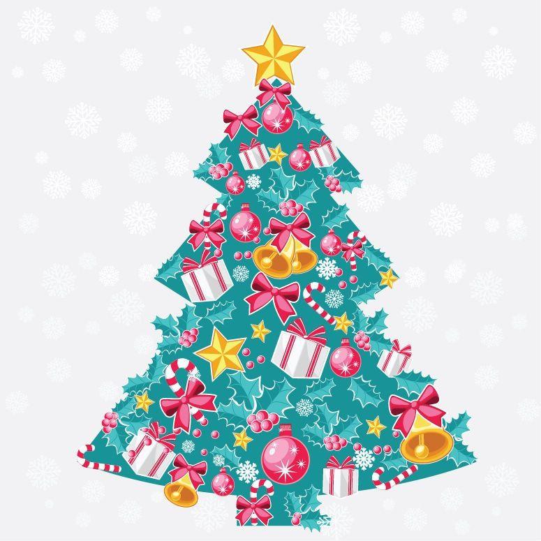 Christmas Tree Clip Art Blue Christmas Tree Christmas Art Christmas Tree Painting
