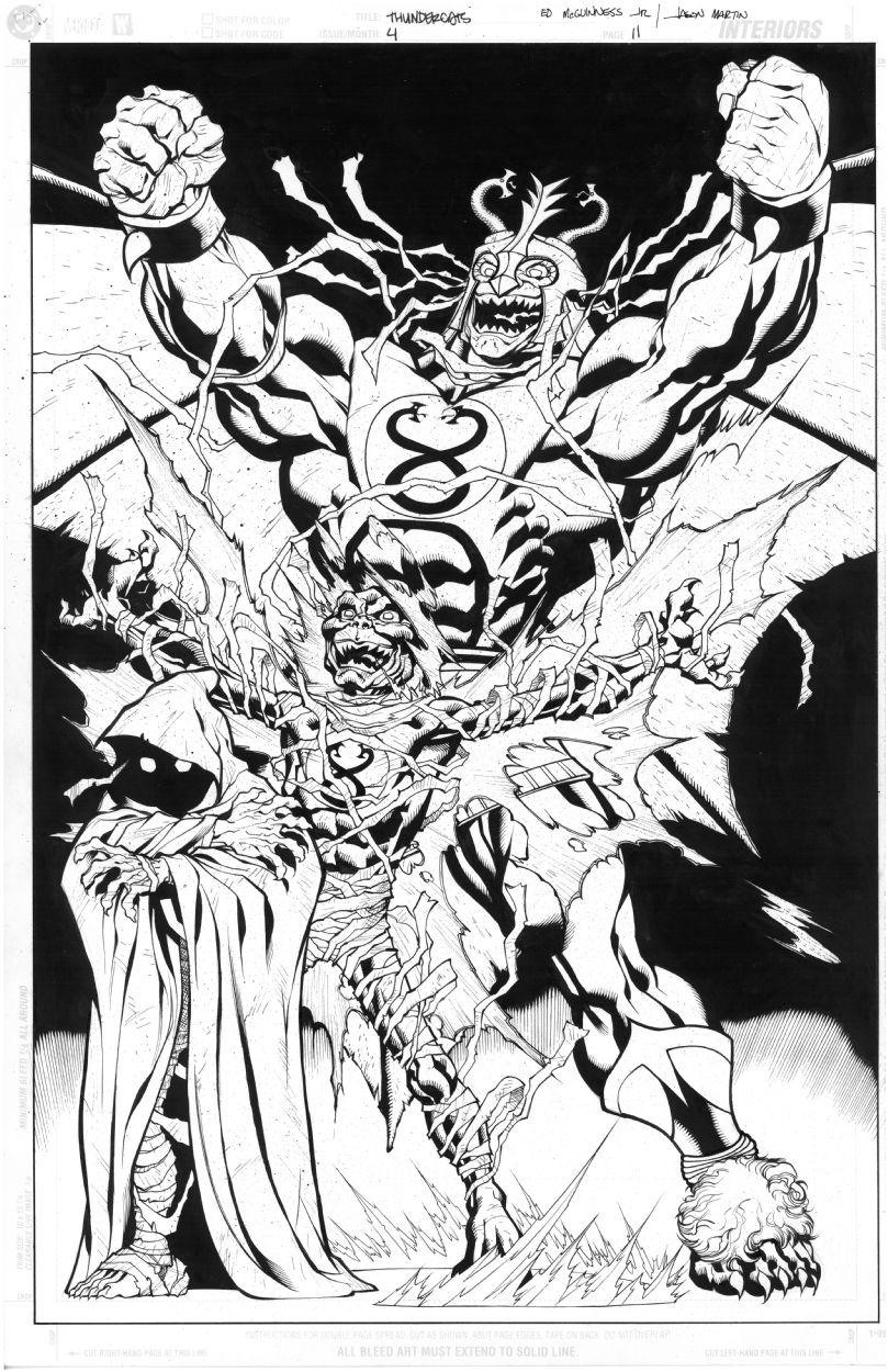 Ed McGuinness Thundercats Mumm-Ra Splash Comic Art | SUPER HEROES ...