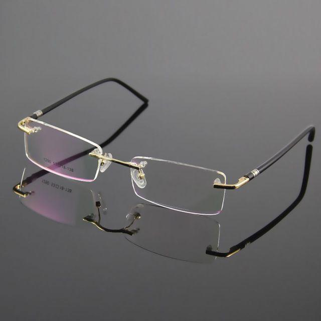 prescriptioneyewear unisex glasses frame designer rimless eyeglasses men and women name brand glasses spectacles optical frame - Name Brand Eyeglass Frames
