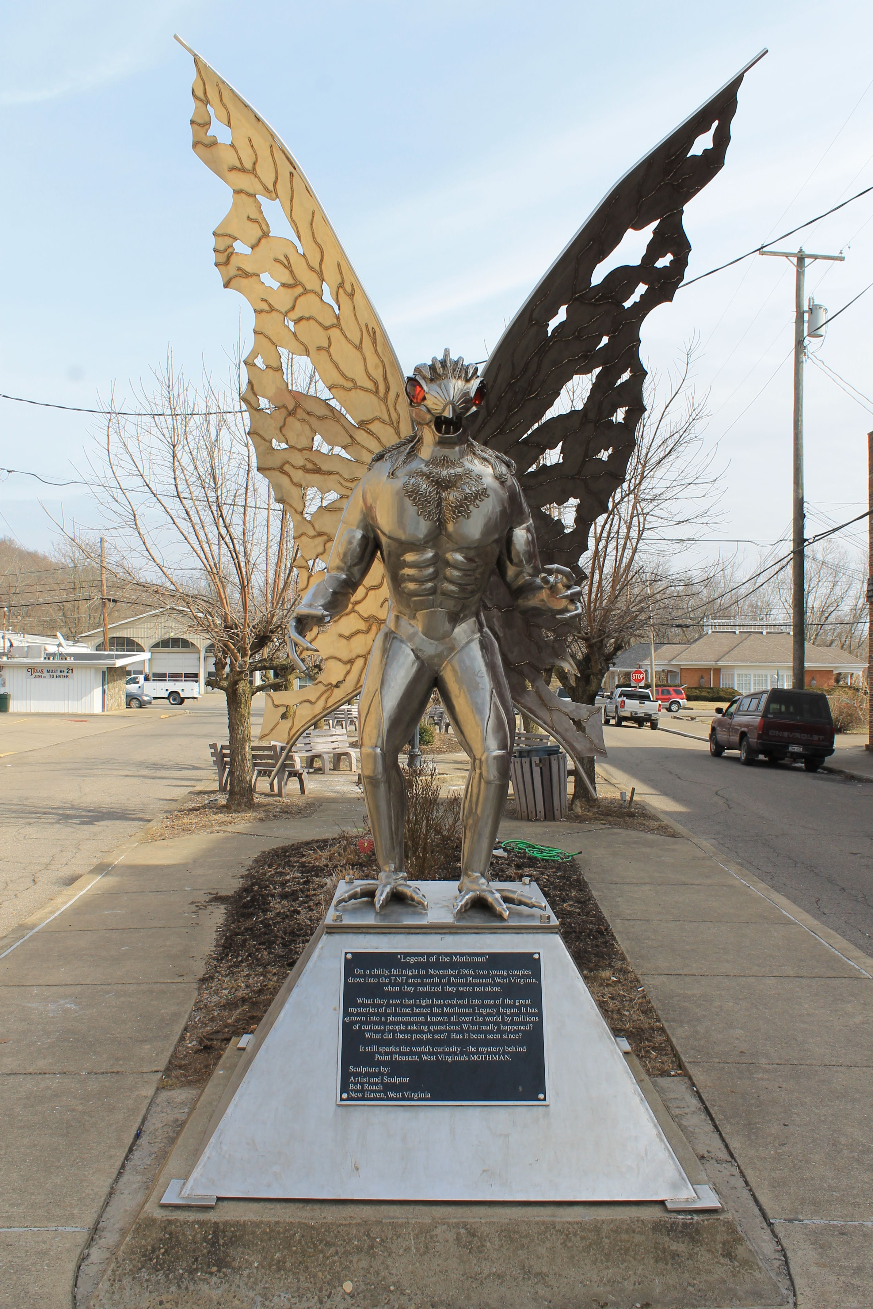 Mystical moth man from Point Pleasant