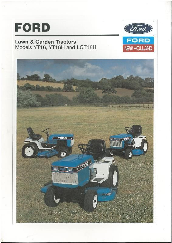 Ford Tractor Lawn Garden Yd16 Yd16h Ygt18h Ford Tractors Lawn And Garden Tractors