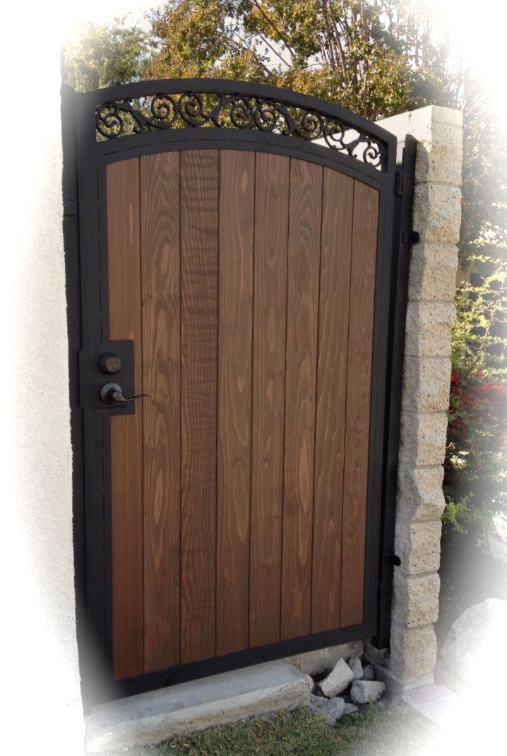 Combination Gates Bellflower Steel Framed Wood Gates