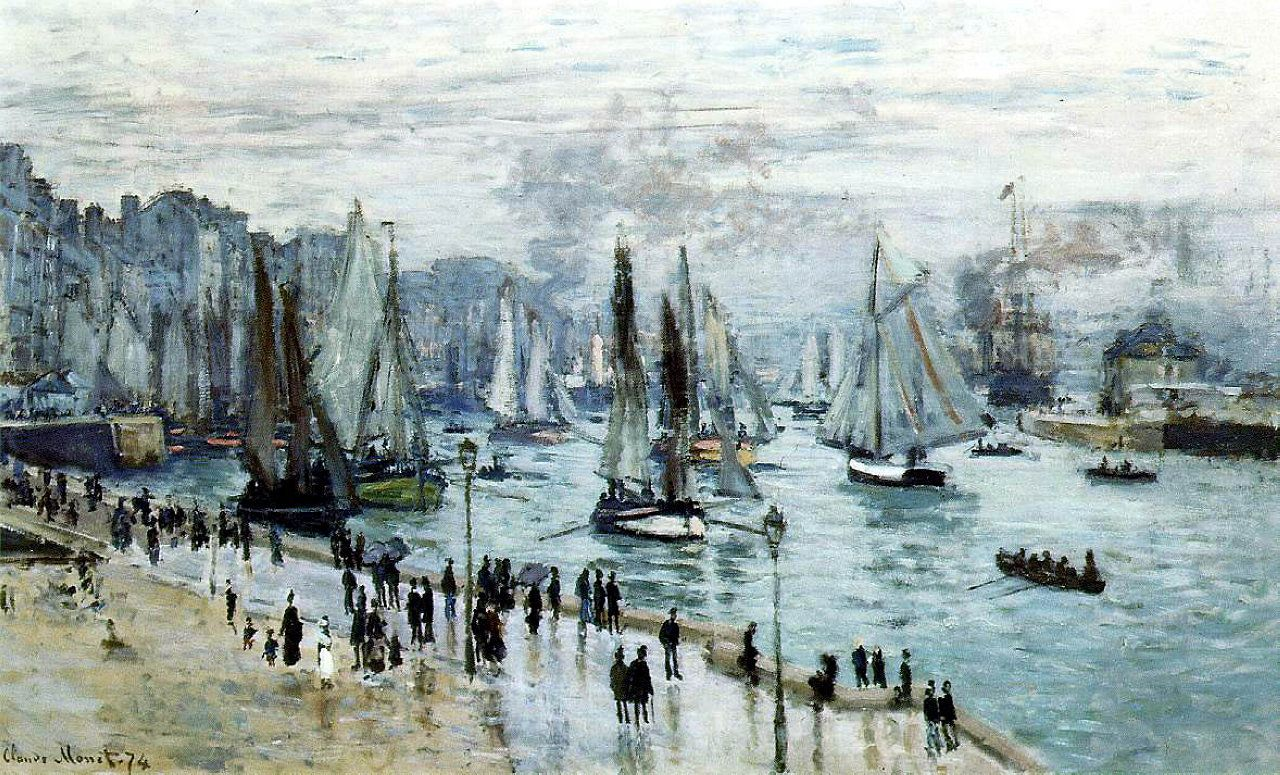 Monet, Fishing Boats Leaving the Habor, Le Havre; 1874.