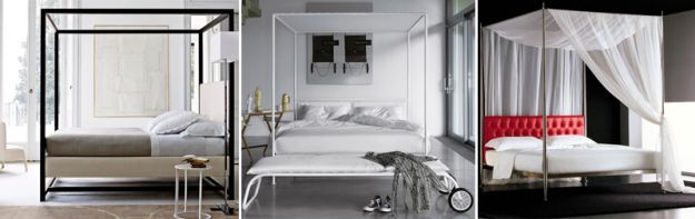 Letti a baldacchino moderni letto a castello pinterest - Camera da letto baldacchino ...