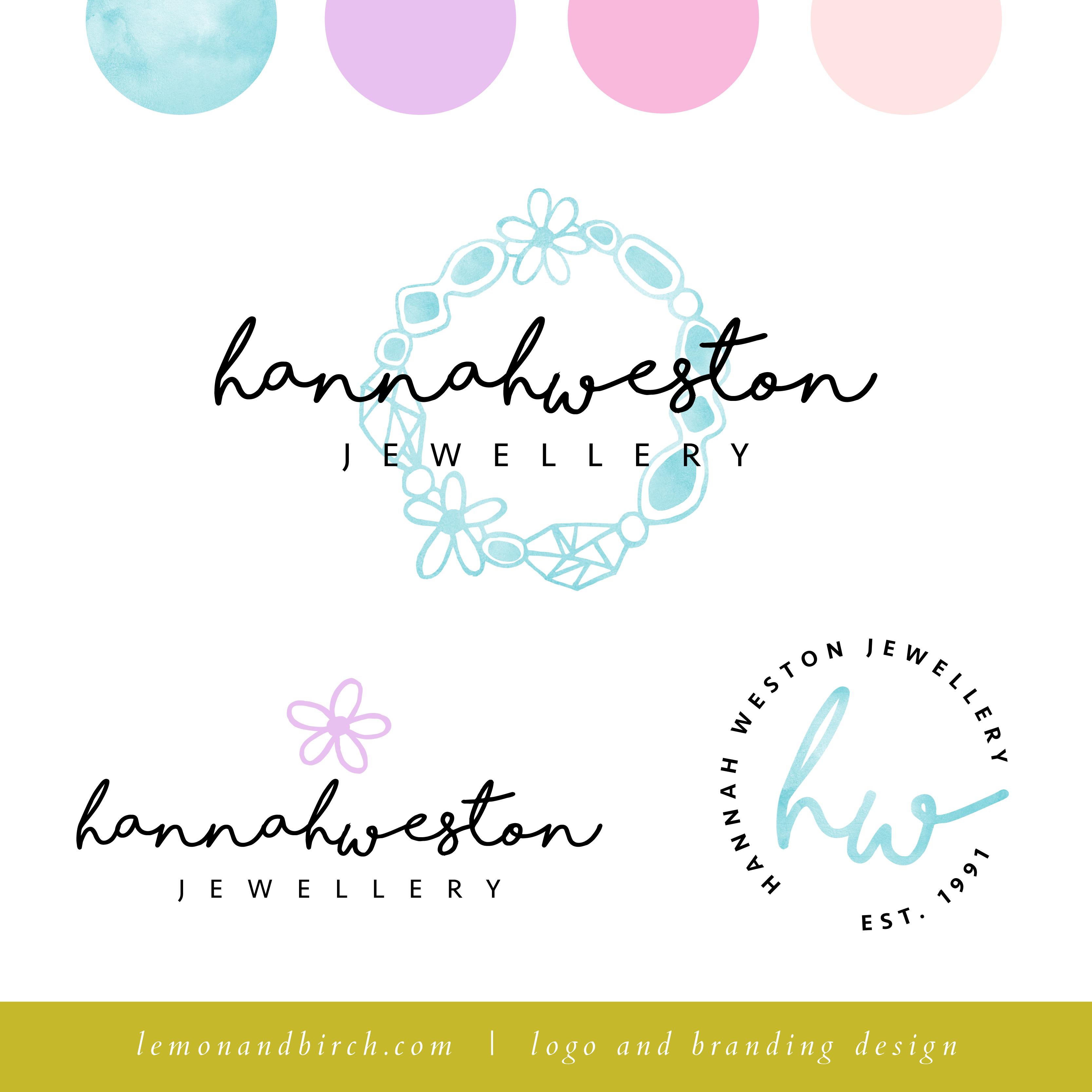 Watercolour logo design   feminine logo   pastel brand identity ...