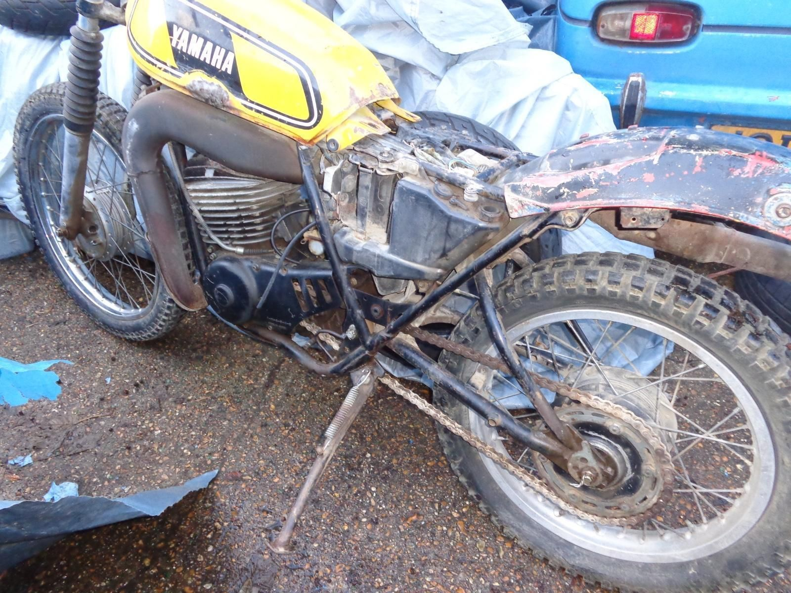 1977 Yamaha DT400 MX classic us BARN FIND PROJECT TRAIL £ ...