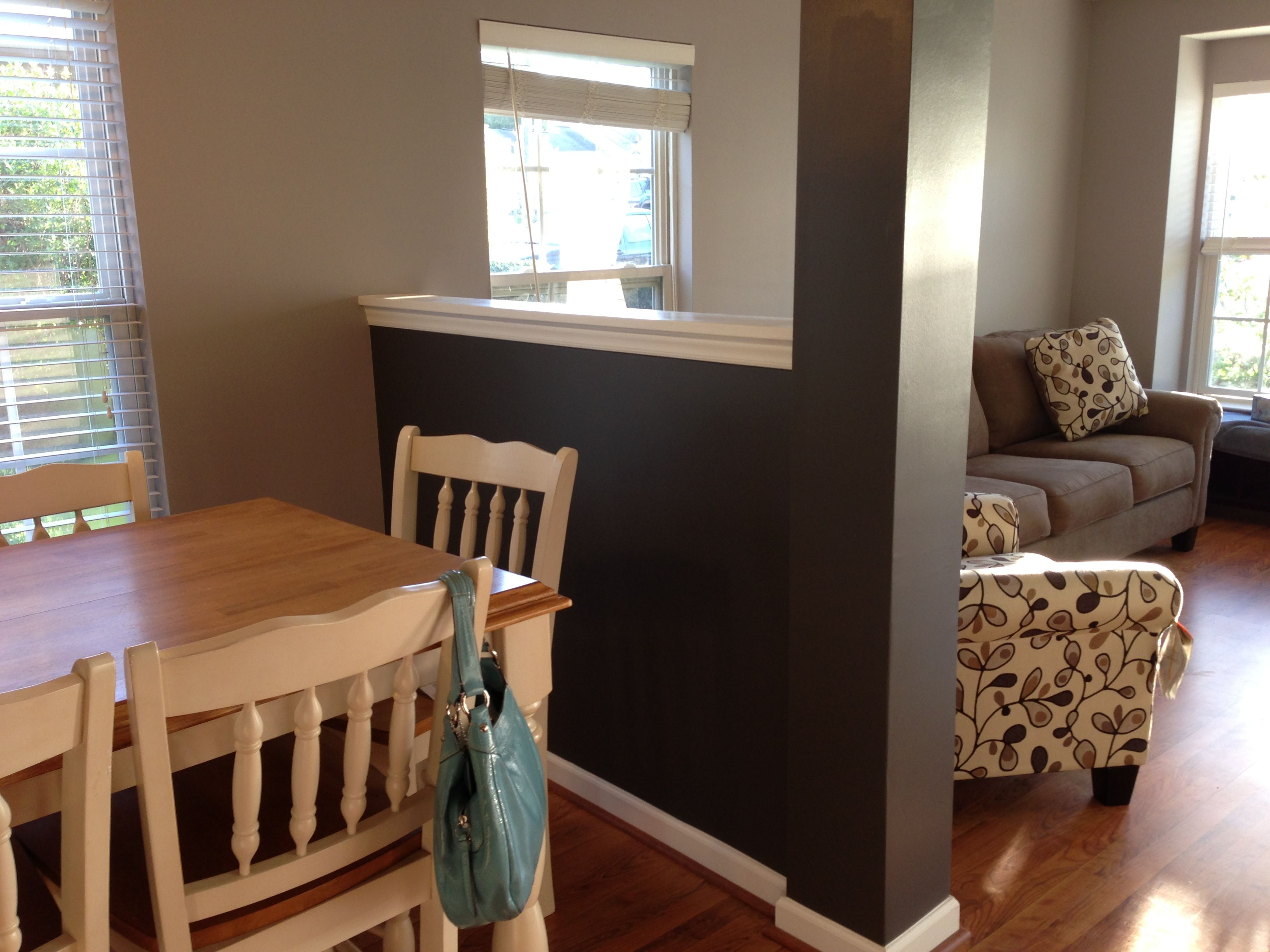Accent Wall Color accent wall - peppercornsherwin williams - main wall color is