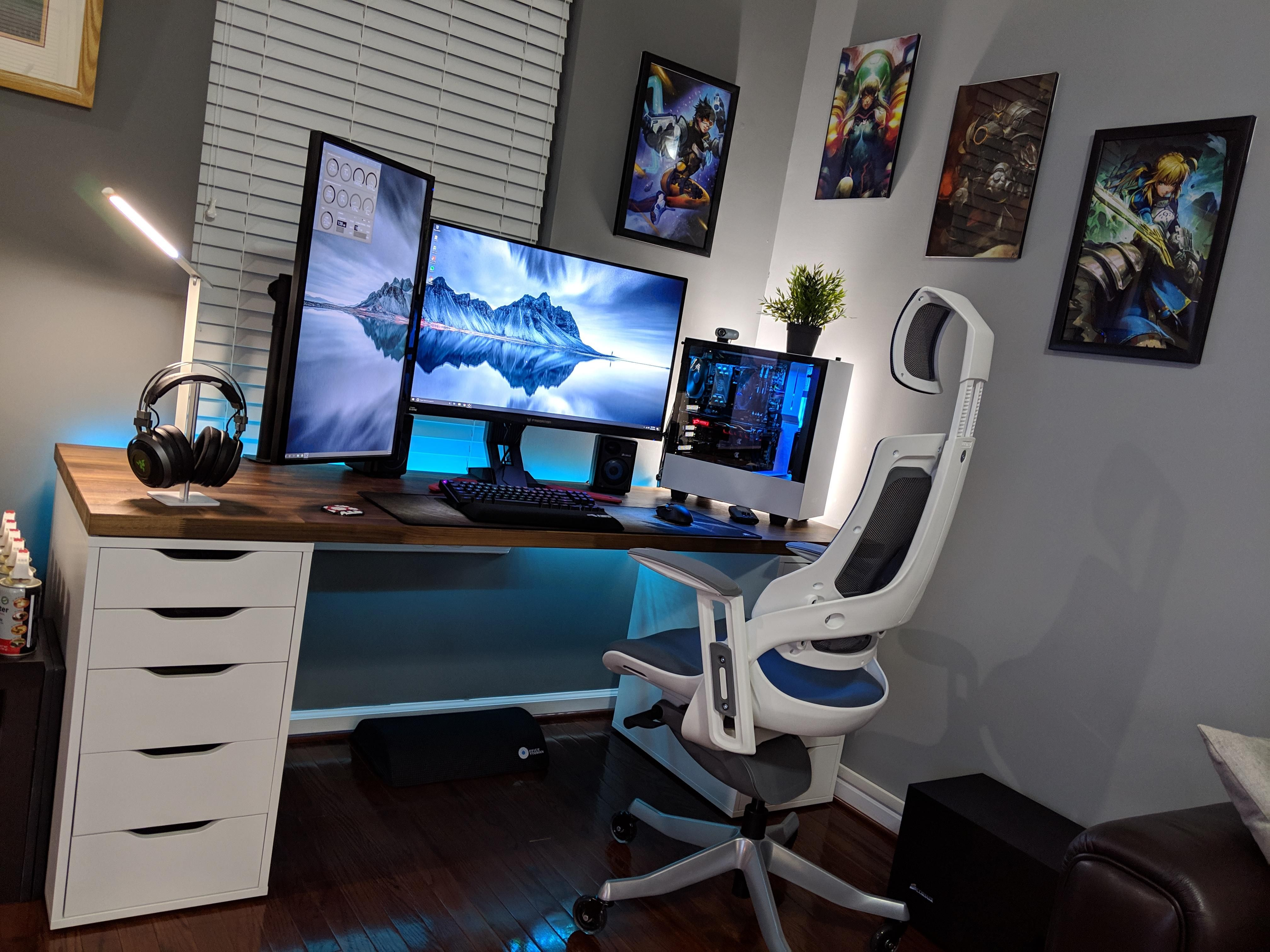 Work Play Chill Battlestations I Love The Blue Hues In The