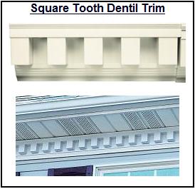 Vinyl Exterior Dentil Molding At Shutterlovers Com Brick Exterior House Vinyl Exterior Exterior Decor