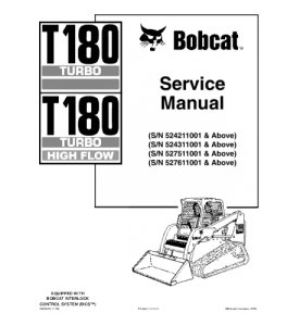 Best download bobcat t180 turbo t180 turbo high flow