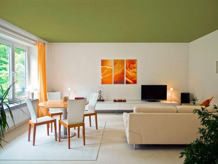 Cielorrasos Pintados En Colores Techo De Color Decoracion De Interiores Decoracion De Comedor
