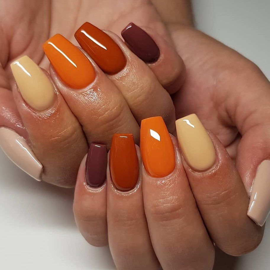 Paige Leanne On Instagram Christmas Nails Ten Different Colours Which Took Incredibly Long To Do Fall Acrylic Nails Baby Nails Dream Nails