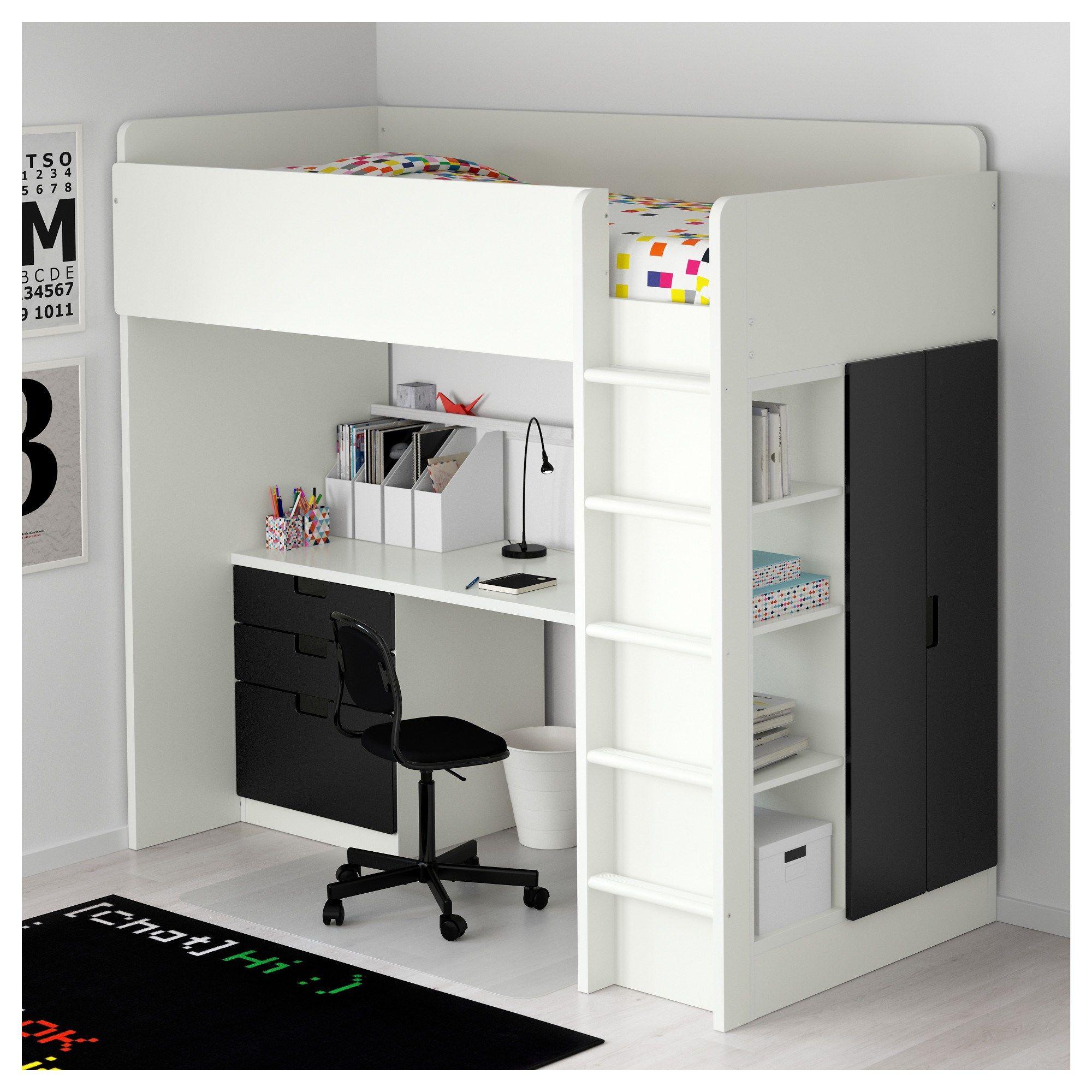 Girls loft bed with stairs  PEg   bunkbeds  Pinterest  Loft bed desk