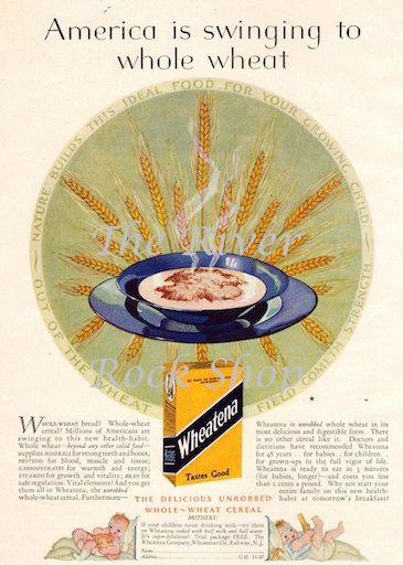 Wheatena  1920s Vintage Advertising  Digital by riverrockshop