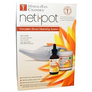 Himalayan Institute Neti Pot نظام تنظيف الجيوب الأنفية بالبورسلين 3 قطع 세라믹 에센셜 오일 아로마테라피