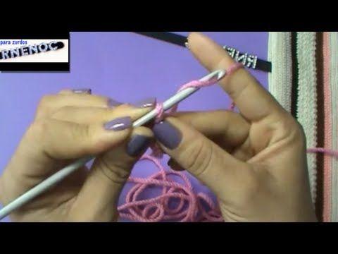 Como Aprender A Tejer Crochet Para Principiantes Para Zurdos Aprendiendo A Tejer Ganchillo Crochet Clase 1