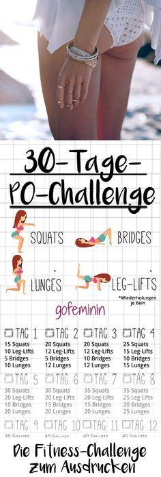 30 Tage Po-Challenge: In einem Monat zu einem knackigeren Po! #corepilates