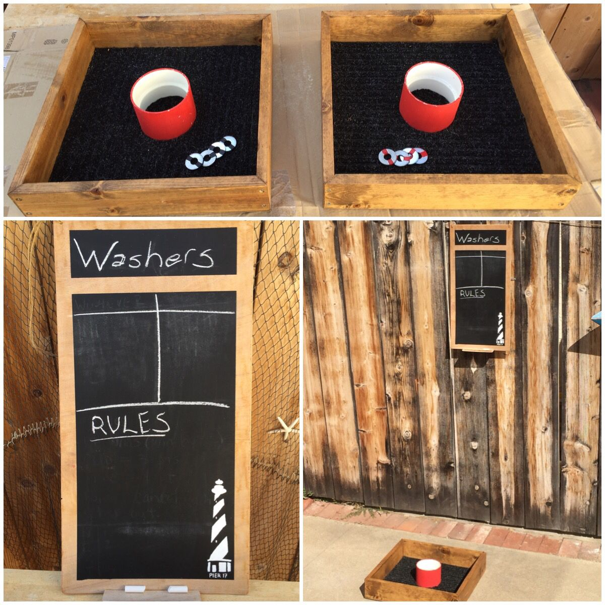 "Home Made Washers Game. Also Known As ""southern Horseshoes"