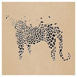 Marques Cheetah Silhouette Sunset Photo Huge Wall Art Poster Print