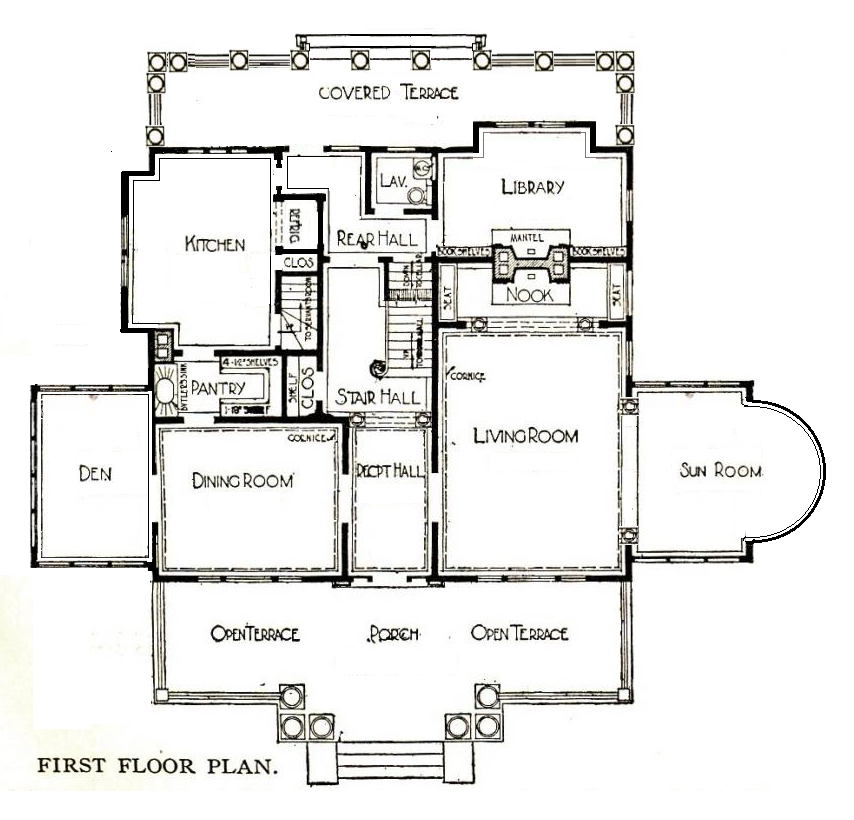 A derived floor plan of the first floor for twelve oaks for Magnolia homes floor plans