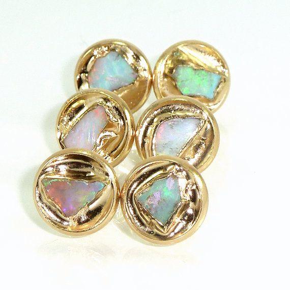 Opal Earrings Opal October BirthstoneRaw Opal by inbalmishan