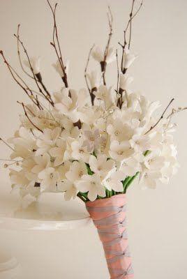Cherry Blossom Bridal Bouquet Cherry Blossom Decor Cherry Blossom Wedding Cherry Blossom Bouquet