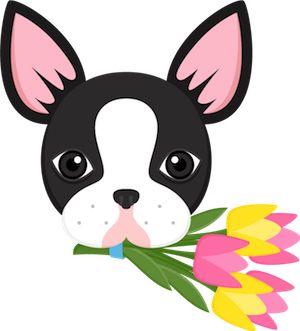 Boston Terrier Flower Bouquet Emoji from Boston Terrier