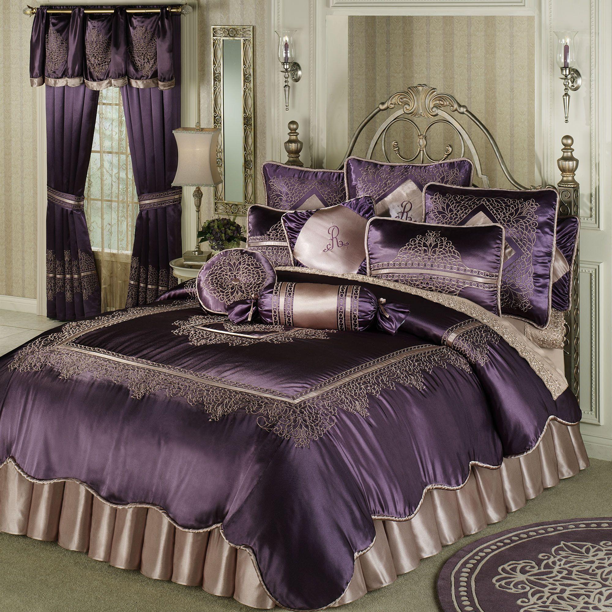 Purple Vintage Lace Comforter Set I Die Purple Bedding Purple