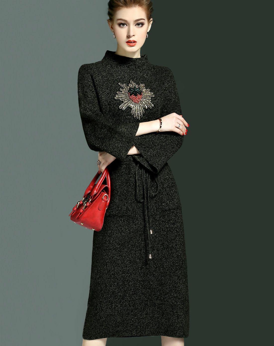 #AdoreWe #VIPme Sheath Dresses - CYANINE SEA Bell Sleeve Straight Sheath Midi Dress with Pockets - AdoreWe.com