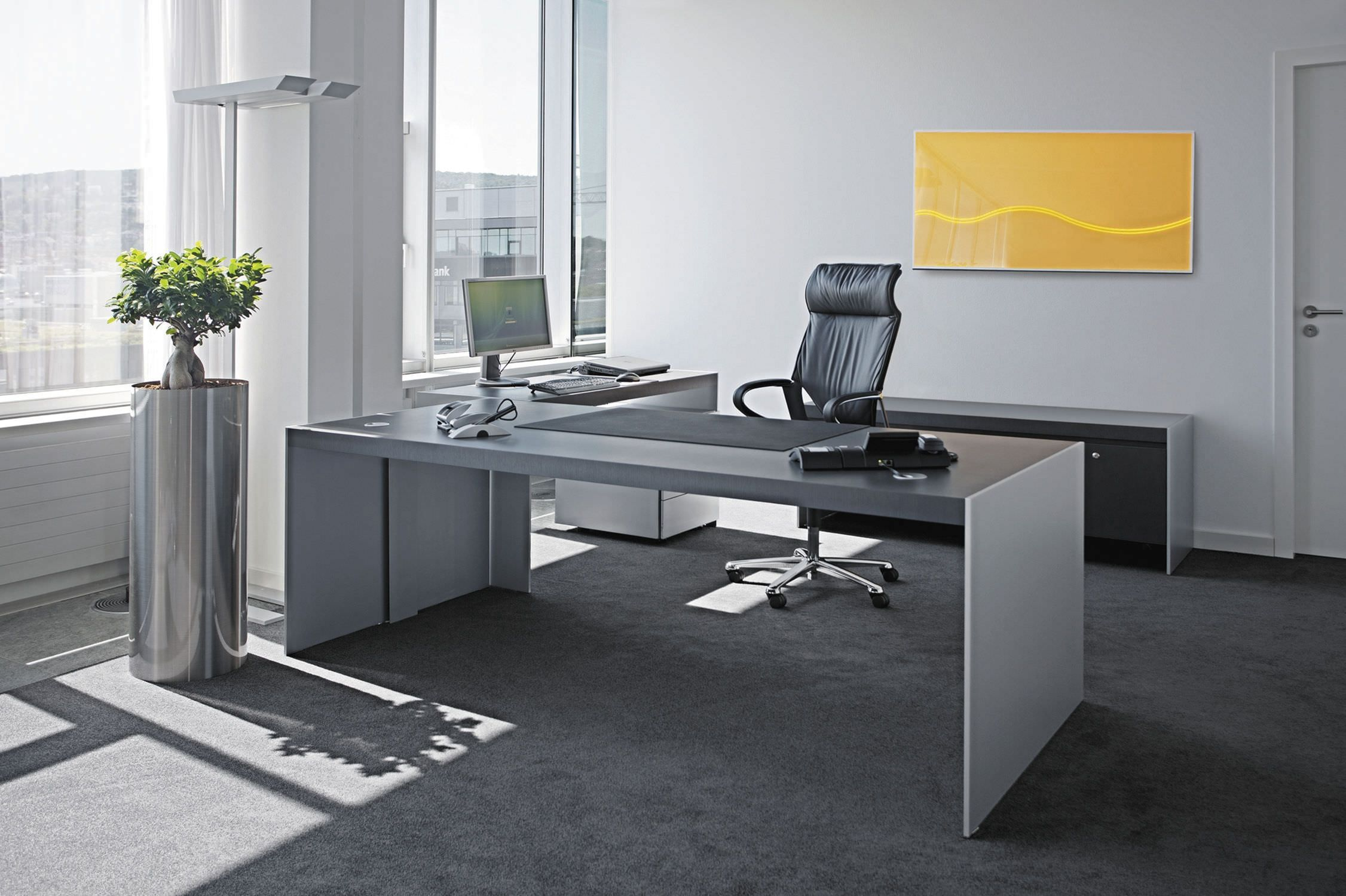 25 Most Comfortable Home Offices Designs With Awesome Furniture Dexorate Contemporary Office Desk Modern Home Office Desk Unique Office Desks