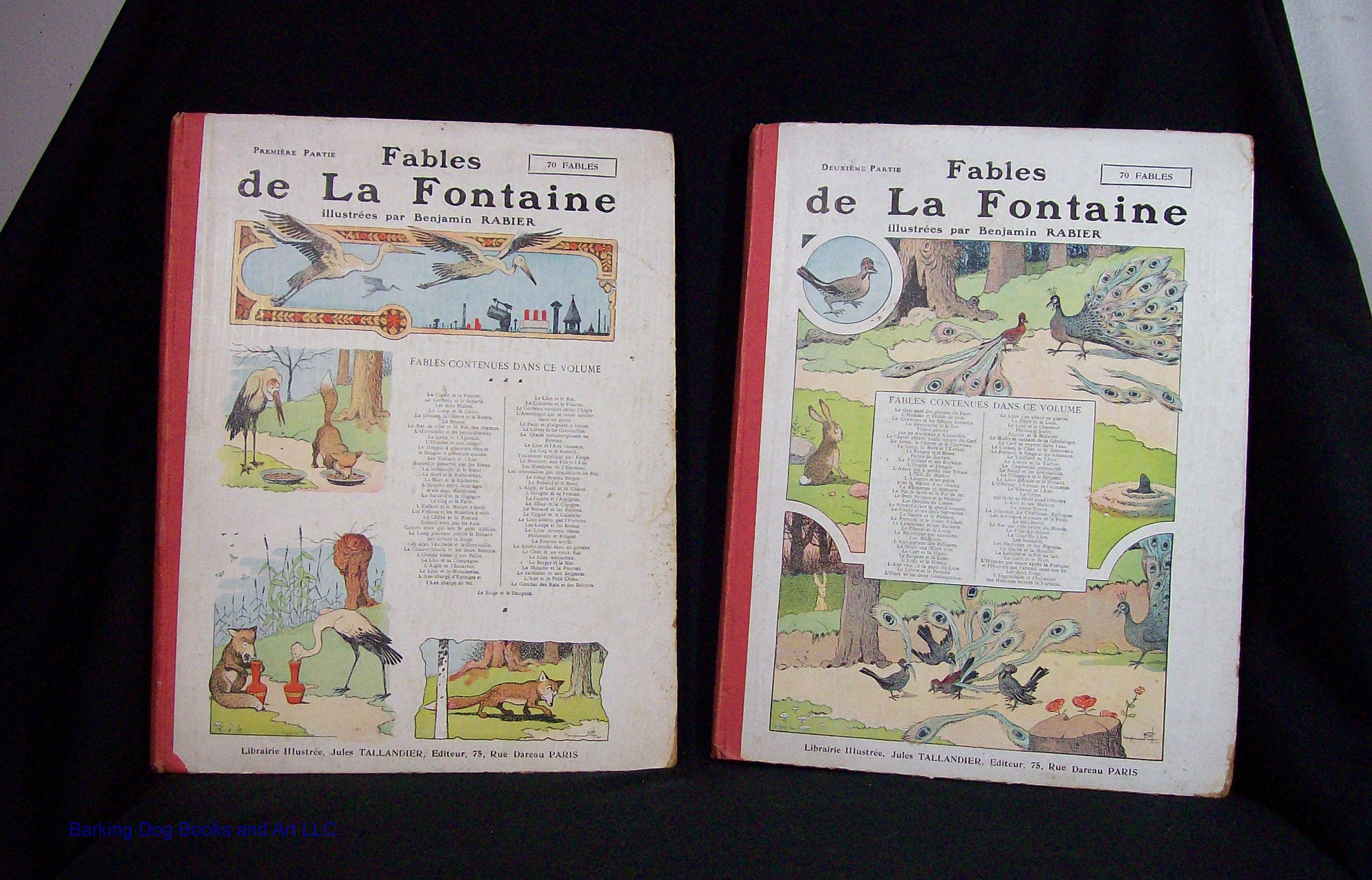 Fables De La Fontaine Two Volumes In French Illustrated By Etsy In 2020 Fables Illustration Book Art
