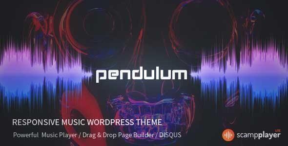 Download and review of Pendulum - Responsive Music Wordpress Theme ...