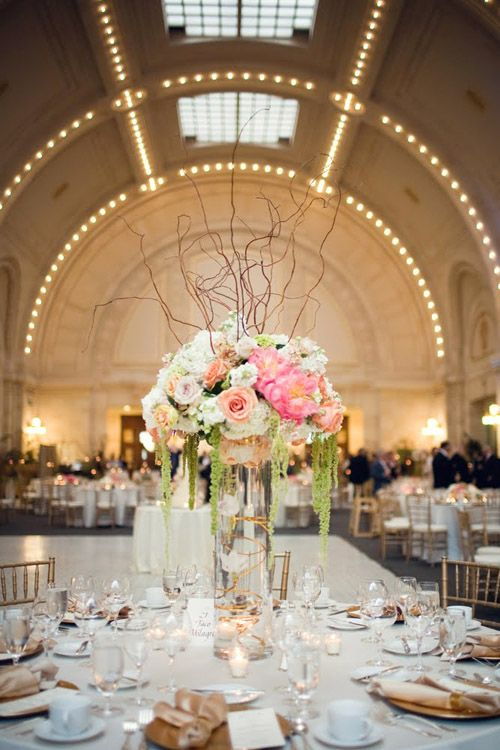 Grand And Romantic Ivory Champagne Gold Peach Wedding At Seattles Union Station