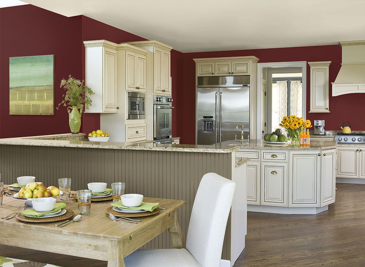 Benjamin Moore Paint Colors Red Kitchen Ideas Rich Red Kitchen Paint Color Schemes Elegant Dinne Red Kitchen Kitchen Wall Colors Kitchen Colors