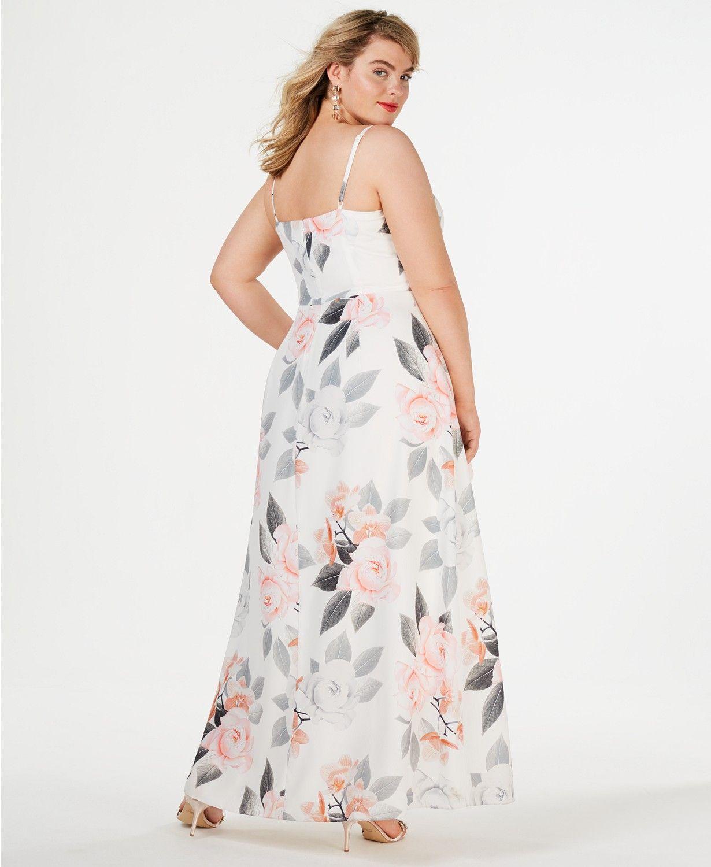 City Chic Trendy Plus Size Floral-Print Maxi Dress - Dresses - Plus ...