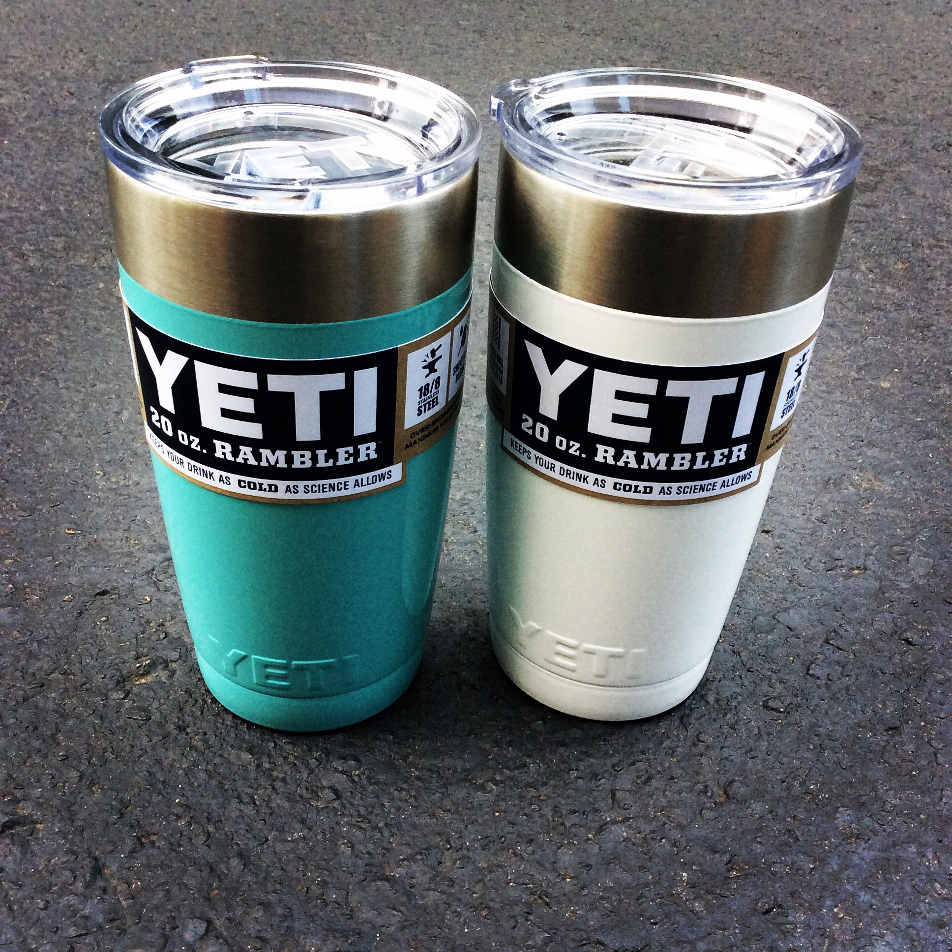 Yeti 20 oz Rambler with powder coating! The Shoe Box in
