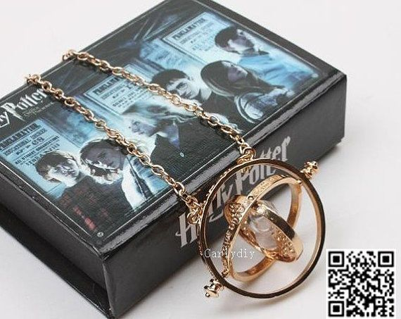 Harry Potter time turner necklace Hermione Granger 18k by Carlydiy, $6.99