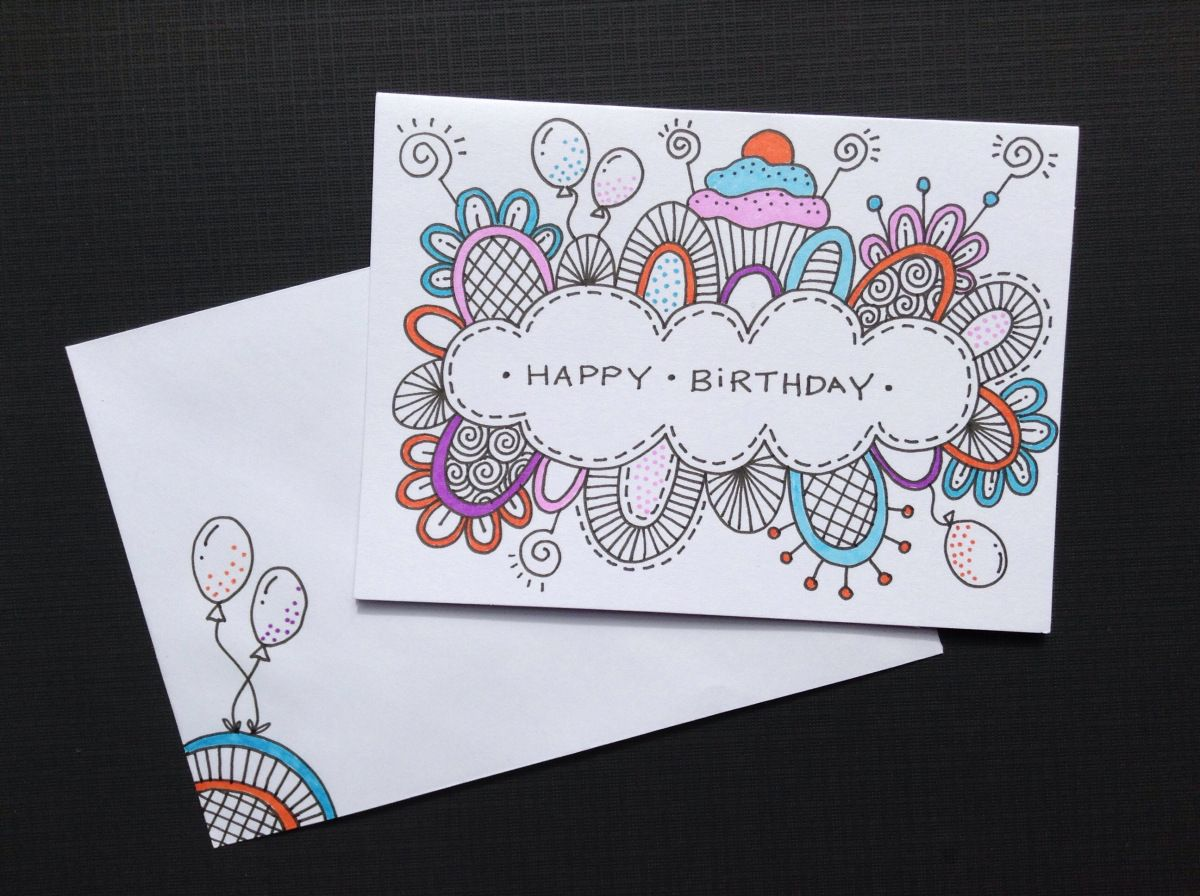 Hand Drawn Birthday Cards Birthday Card Drawing Hand Drawn Cards Card Drawing