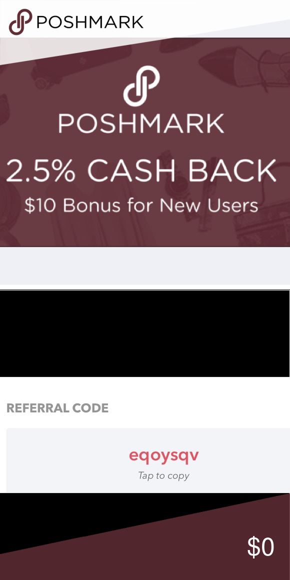 Get 2.5 back on purchases Use my referral code to sign up